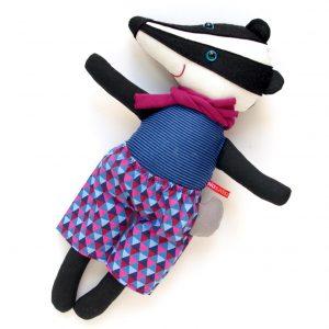 borz figura textiljáték