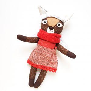 őz baba karácsonyi ajándék öltöztethető