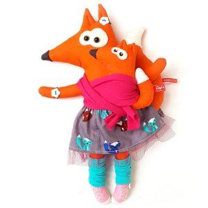 hordozós miaszösz róka baba-mama